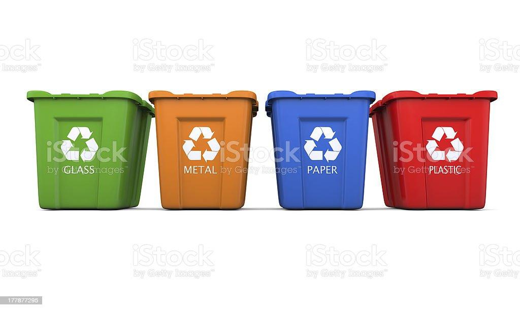 Cuatro de reciclaje - foto de stock