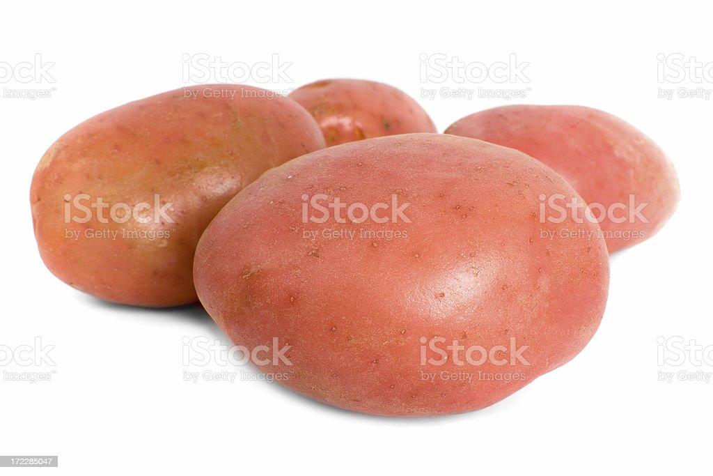 Four Red Desiree Potatoes royalty-free stock photo
