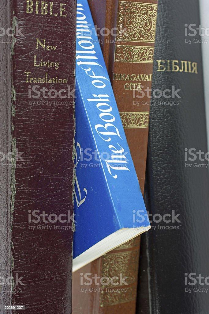 Four Religious Books stock photo