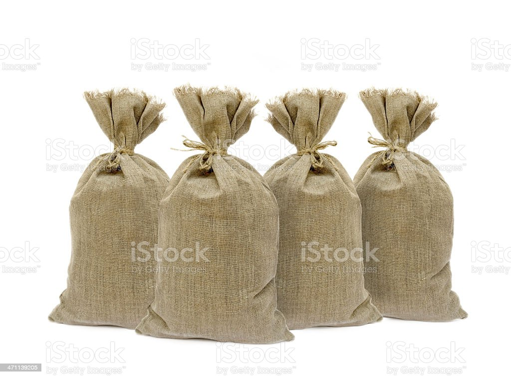 Four sacks royalty-free stock photo