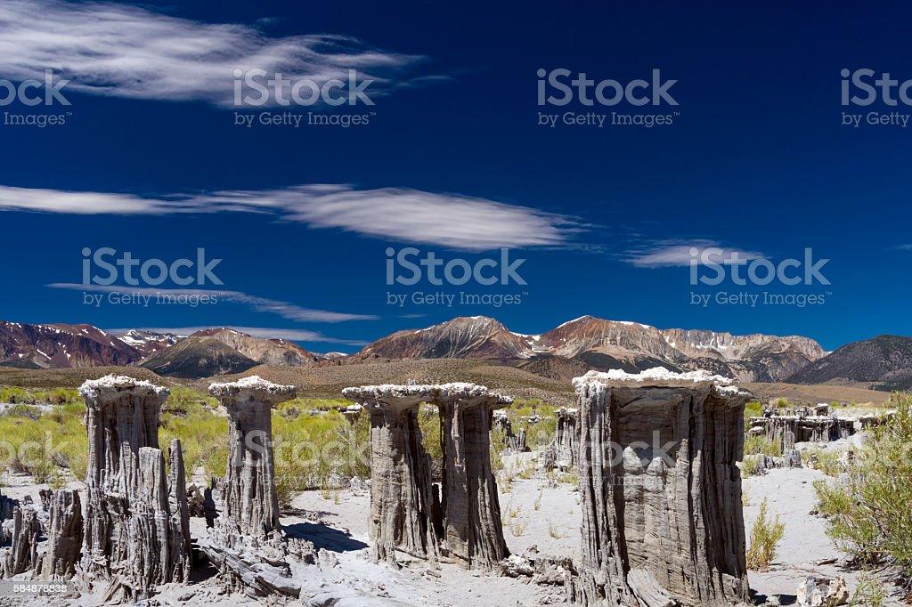 Four Sand Tufas at Mono Lake stock photo