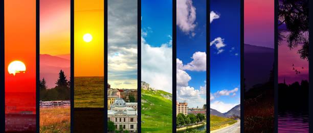 Four seasons collage stock photo
