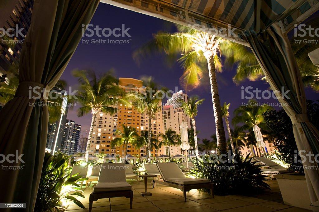 Four Seasons Miami Cabana royalty-free stock photo