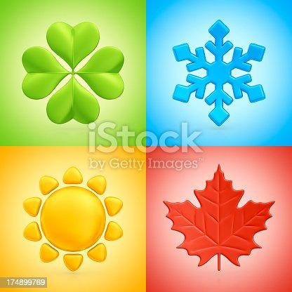 Four Seasons Symbols Stock Photo More Pictures Of Autumn Istock