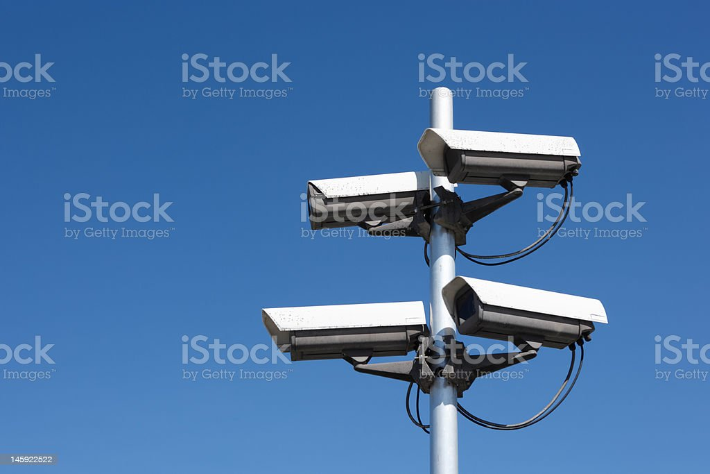four security cameras royalty-free stock photo