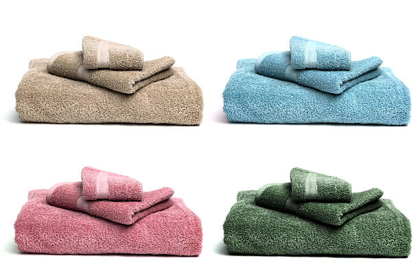 Four Sets of Guest Towels stock photo