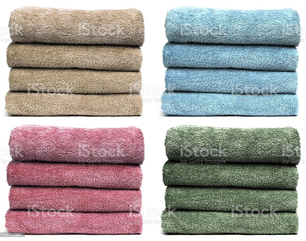 Four Sets of Towels stock photo