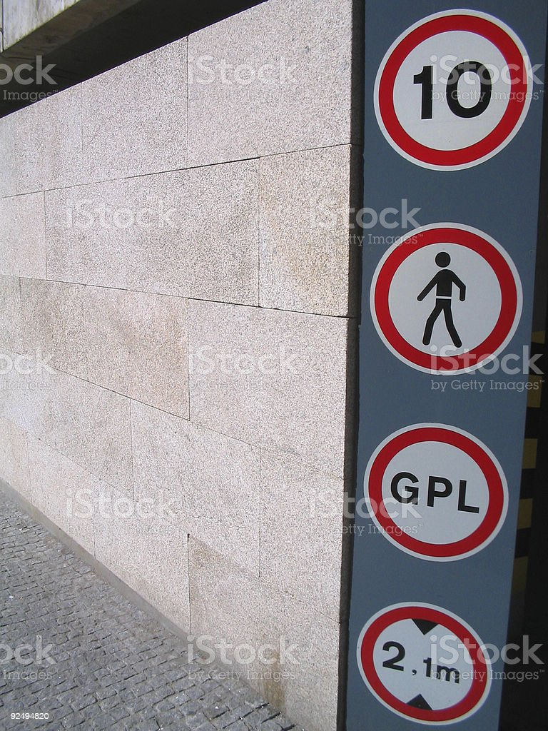 Four signs royalty-free stock photo