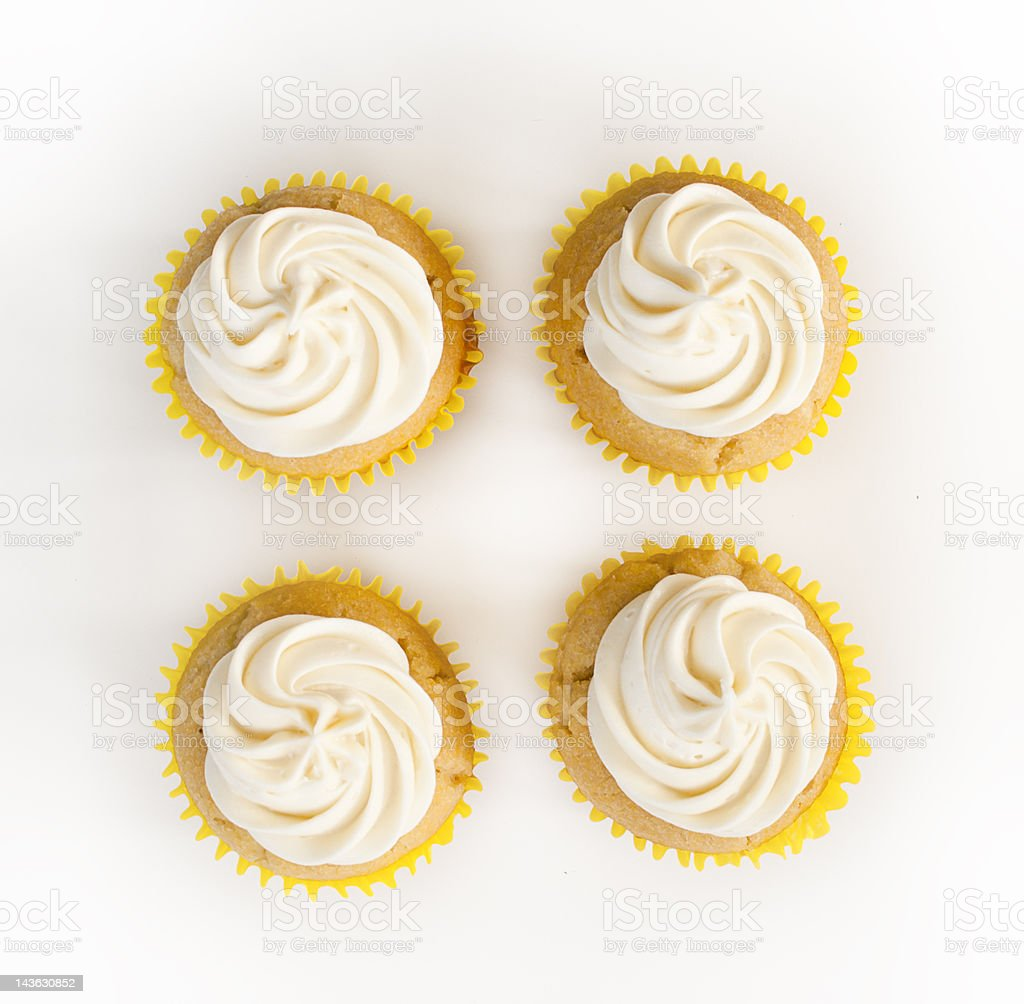 Four Simple Cupcakes royalty-free stock photo