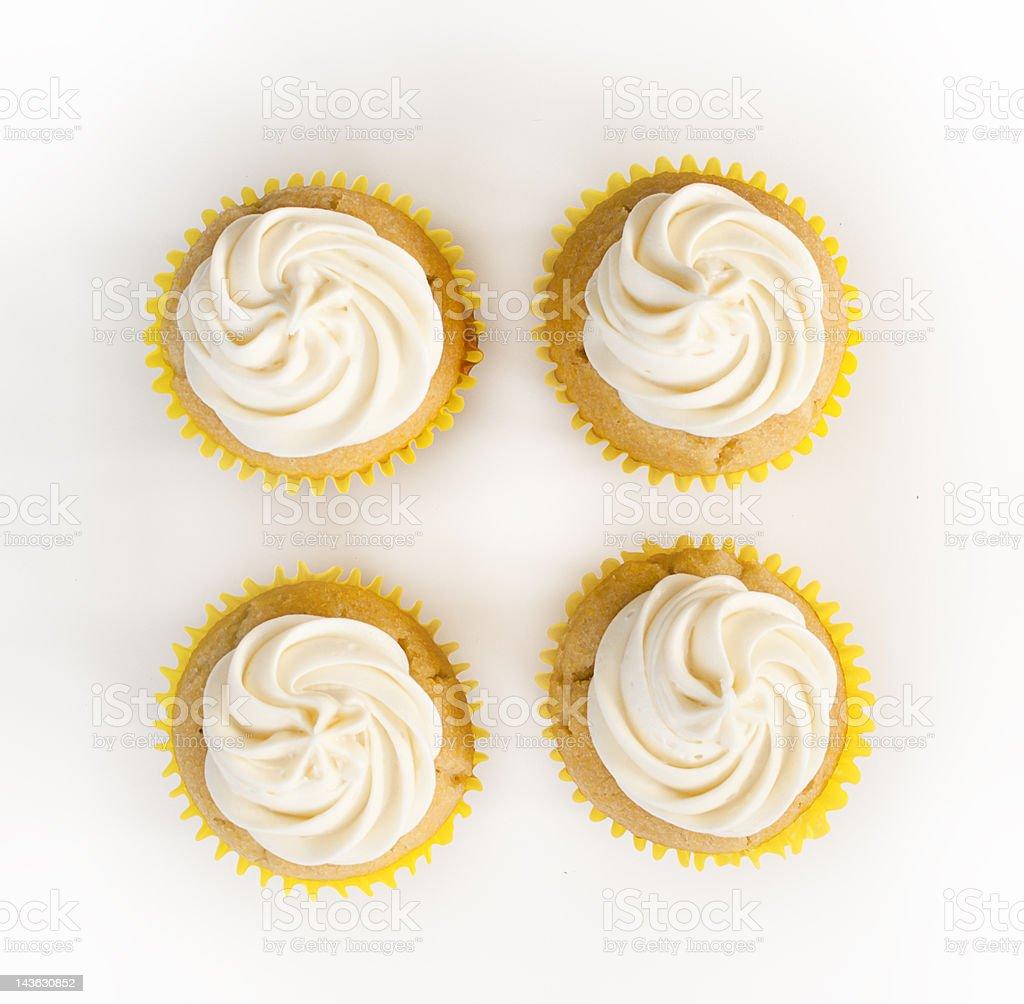 Four Simple Cupcakes stock photo