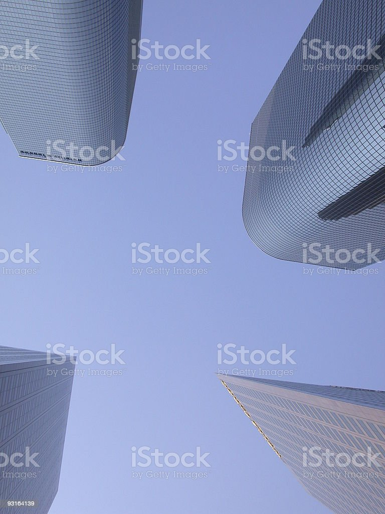 Four Skyscrapers royalty-free stock photo
