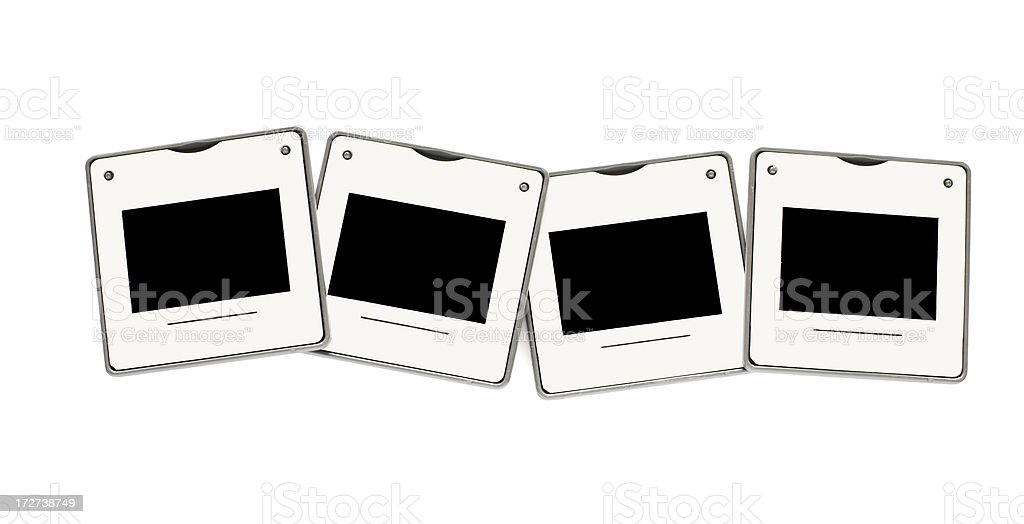 Four Slides, isolated royalty-free stock photo