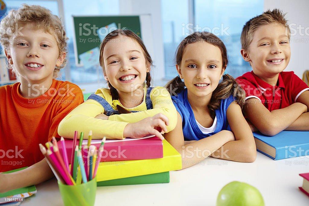 Four smiles royalty-free stock photo