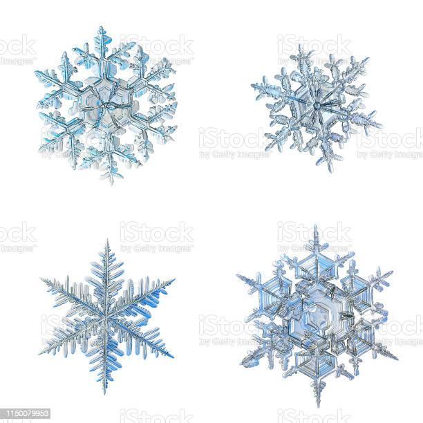 Four snowflakes isolated on white background picture id1150079953?b=1&k=6&m=1150079953&s=612x612&h=apykuvz6dbx lngunzu1xzkqfqfrnsyq qmciijrna8=