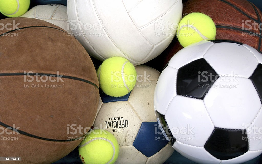 Four Sport Athlete royalty-free stock photo