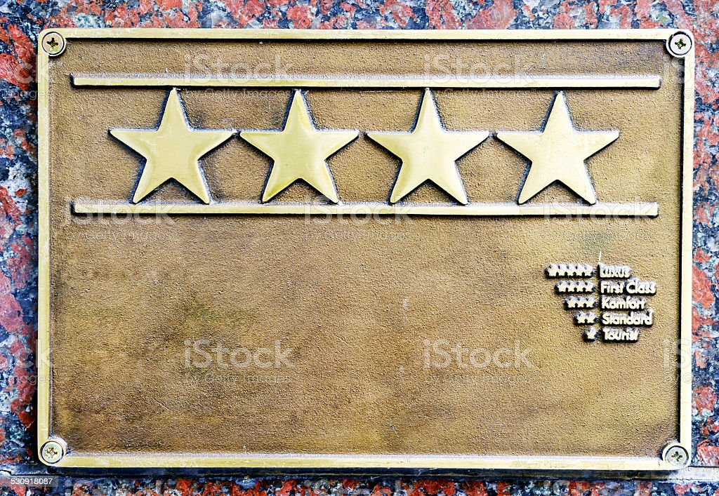 four stars first class hotel stock photo