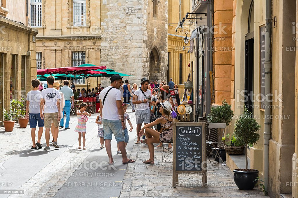 Four steps in Aix en provence stock photo