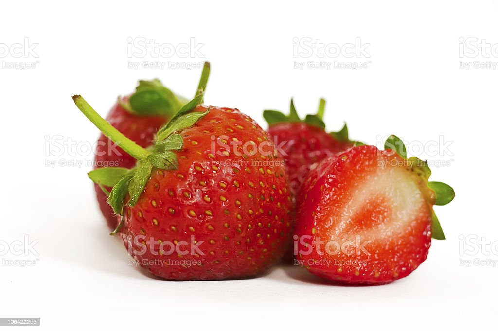Four strawberries royalty-free stock photo