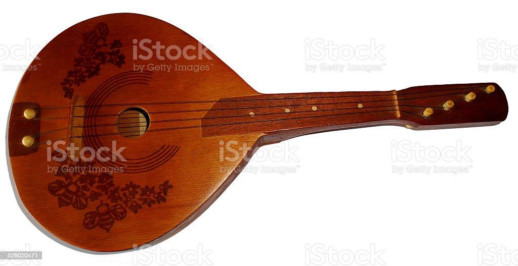 Four strings mandolin, isolated on white stock photo