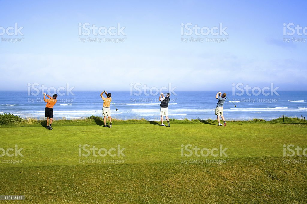 Four Tee Shots in the Ocean royalty-free stock photo