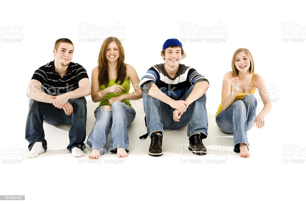 Four Teen Friends royalty-free stock photo