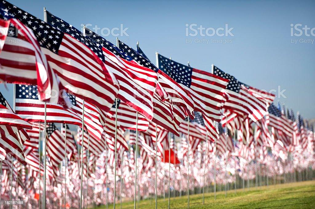 Four Thousand Flags royalty-free stock photo