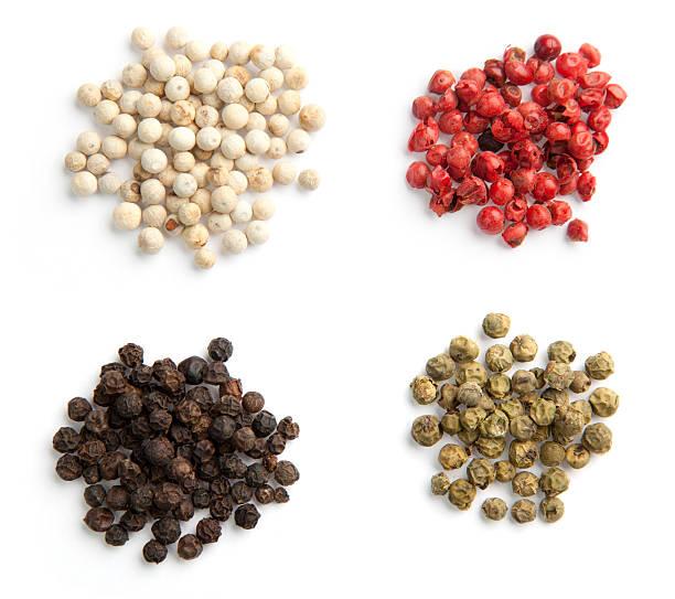 Quatre Types de grains de poivre de - Photo