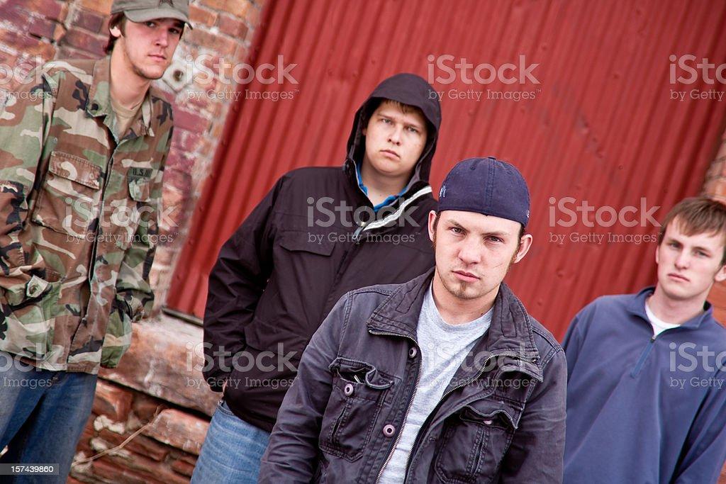 Four Urban Gang Members stock photo