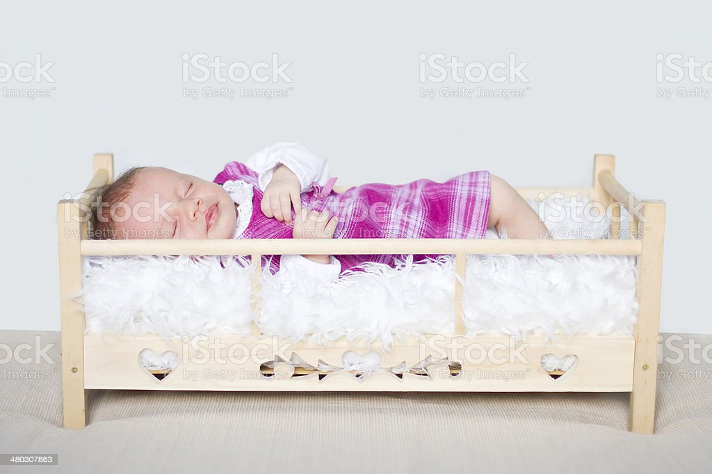 Four weeks old baby's portrait royalty-free stock photo