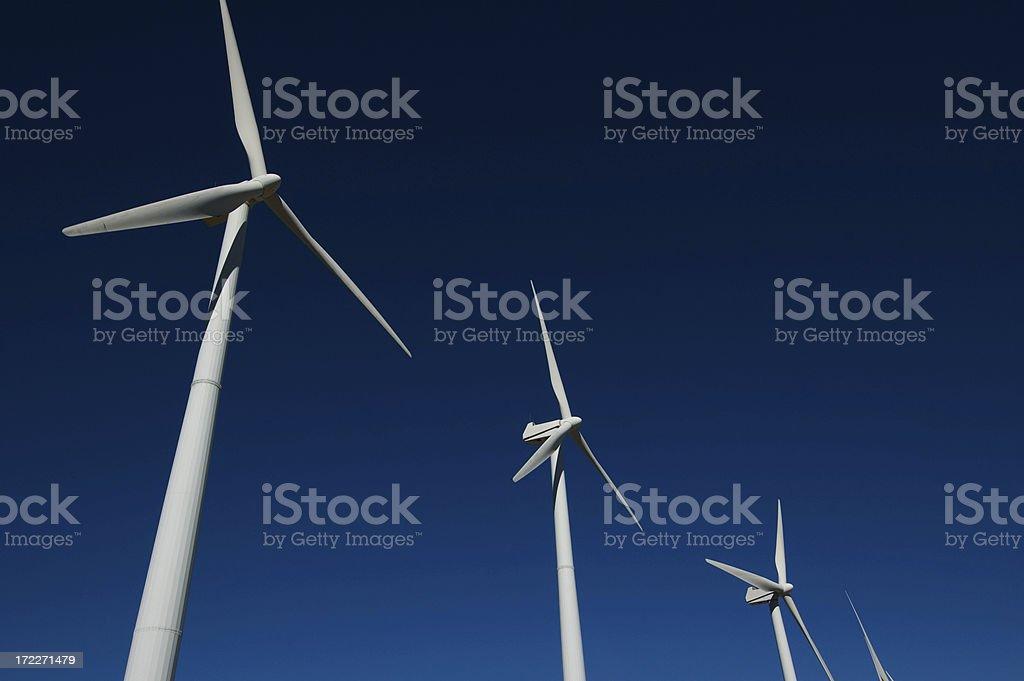 Four windmills royalty-free stock photo