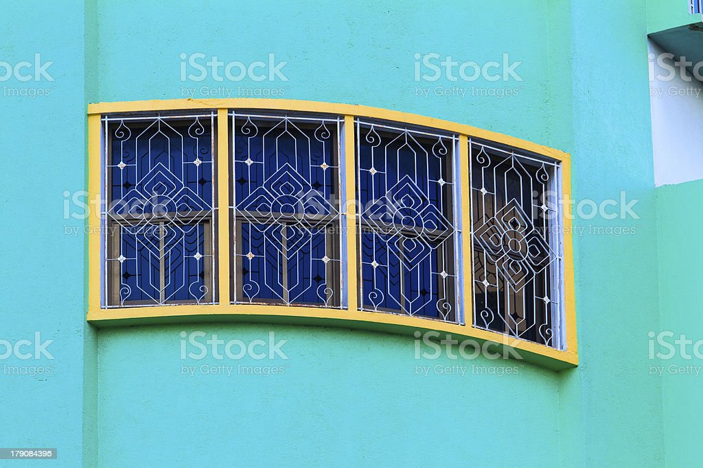Four windows with bars royalty-free stock photo