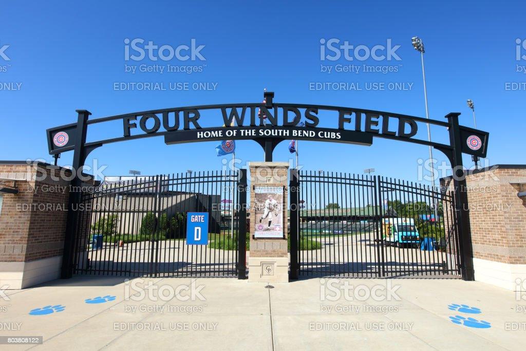Four Winds Field at Coveleski Stadium stock photo