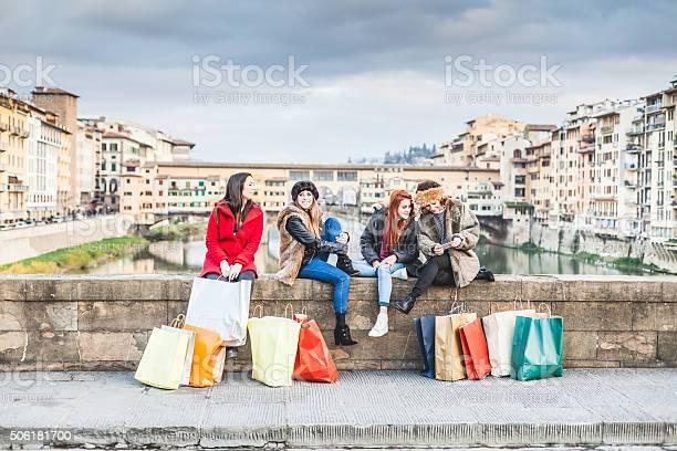 Four women friends take a break on bridge in florence picture id506181700?b=1&k=6&m=506181700&s=612x612&h=1lpks4xd4to m28oggv3lyb651dvrgq4xgr87 zfv1g=