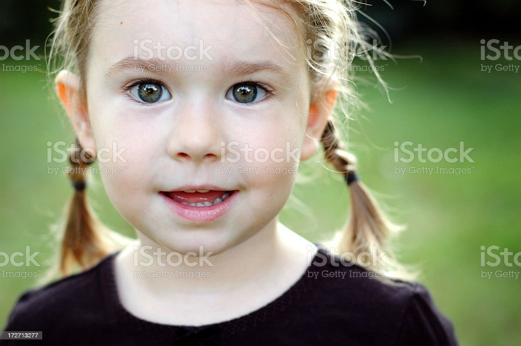 Four Year Old Girl royalty-free stock photo
