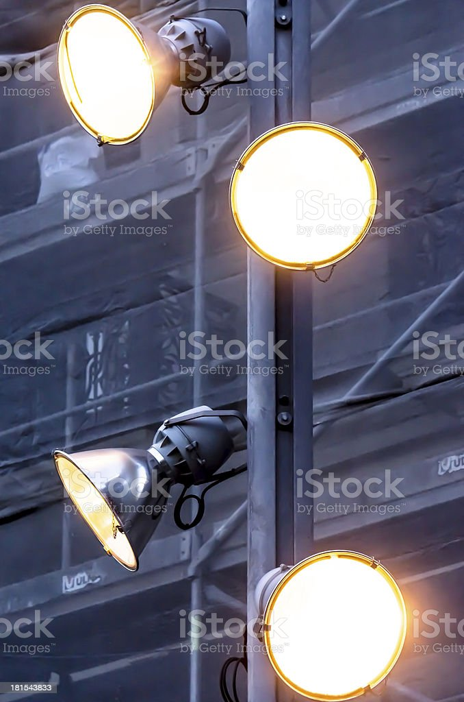 Four Yellow Lights royalty-free stock photo