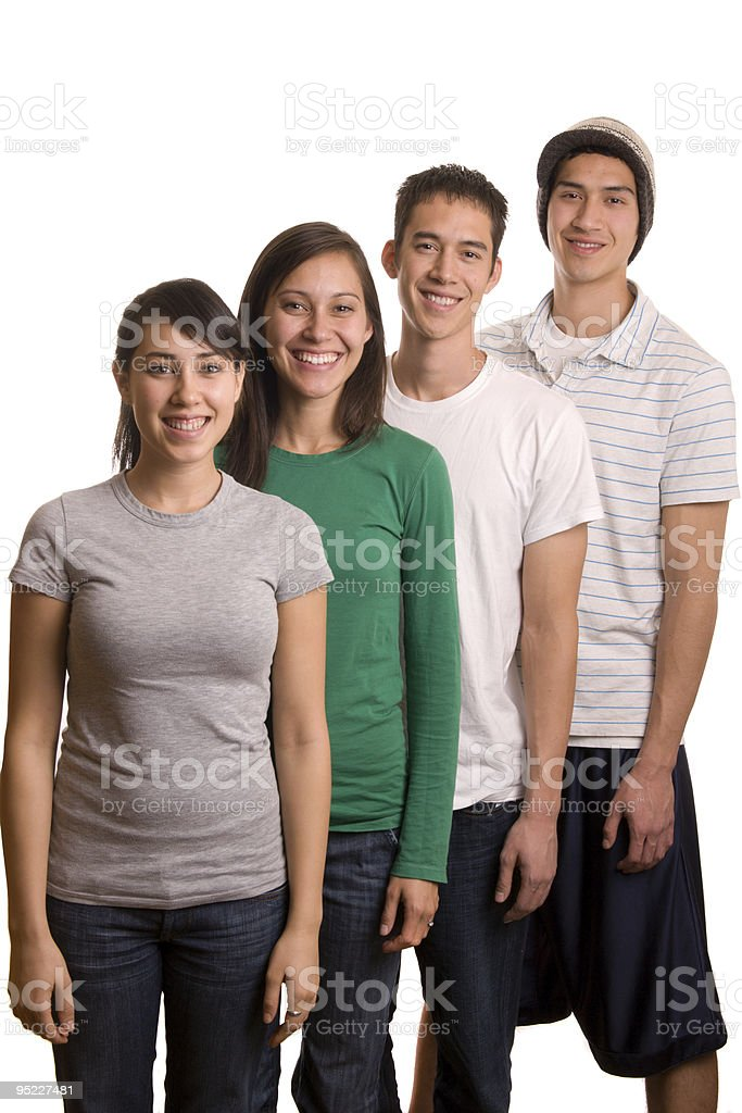 Four Young Adults stock photo