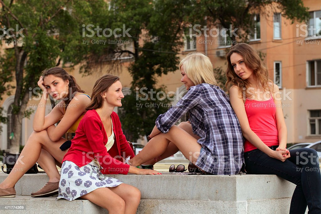 Four young women royalty-free stock photo