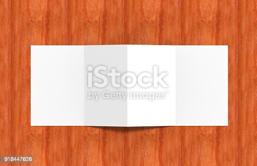 istock Four-Fold Half Letter Brochure Mock-up 918447626