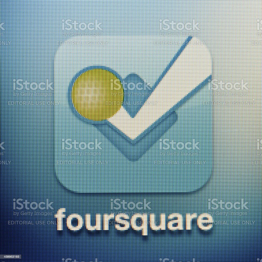 Foursquare royalty-free stock photo