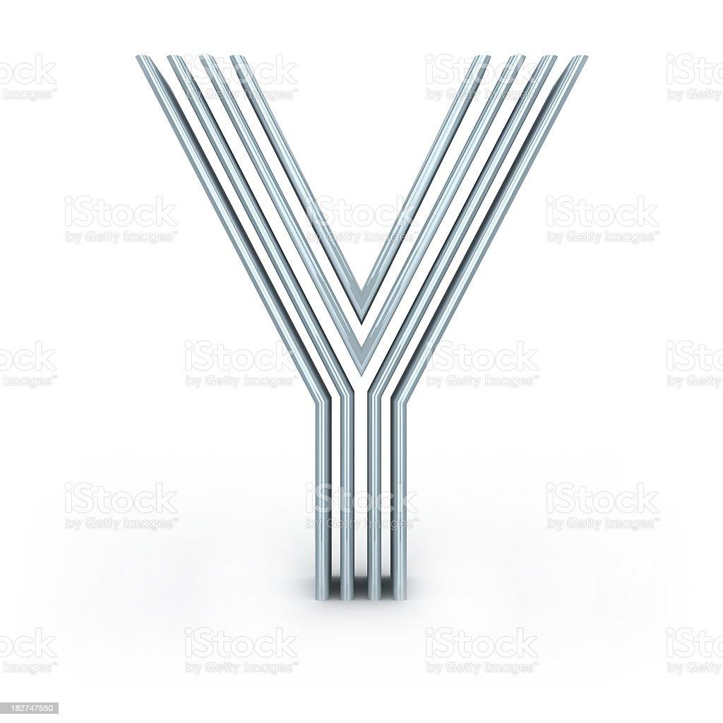 Four-striped alphabet royalty-free stock photo