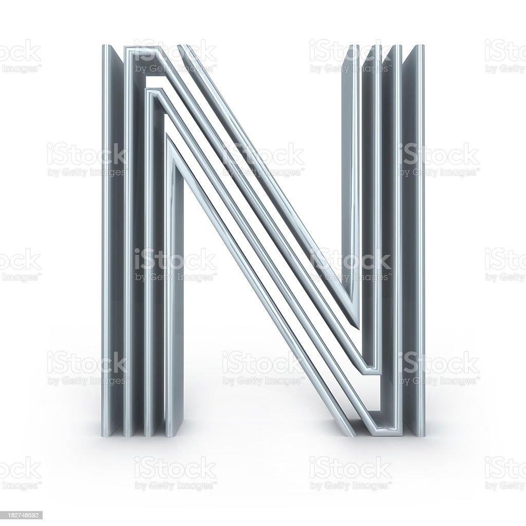 Four-striped alphabet stock photo
