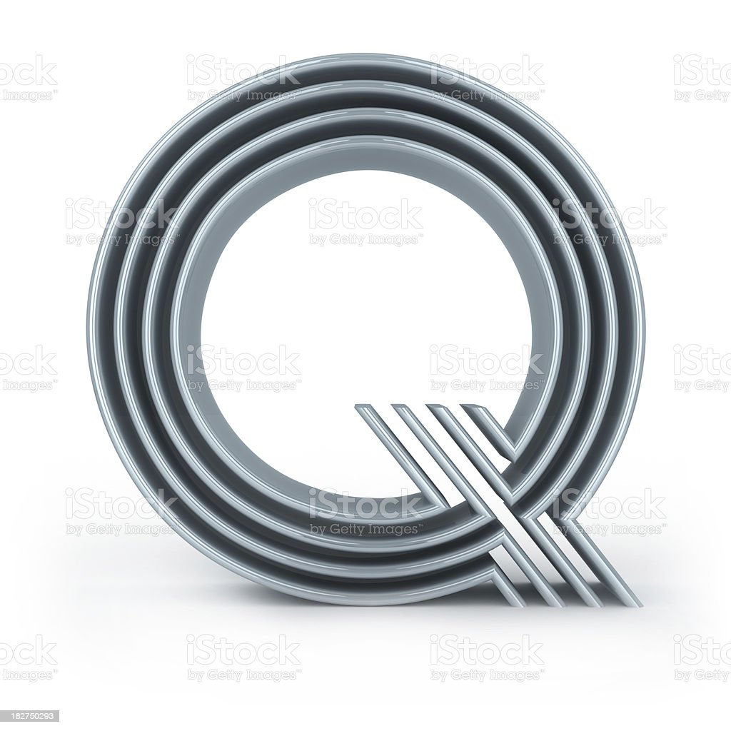 Four-striped alphabet stock photo