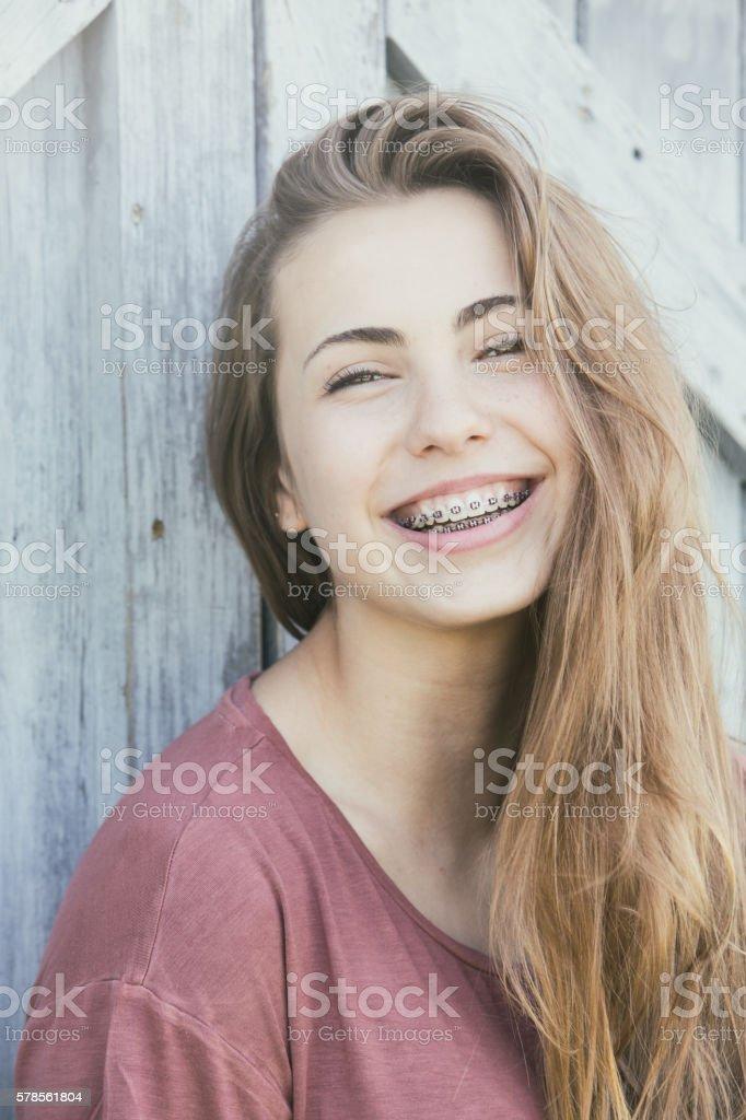 Fourteen Year Old Lifestyl Portrait royalty-free stock photo