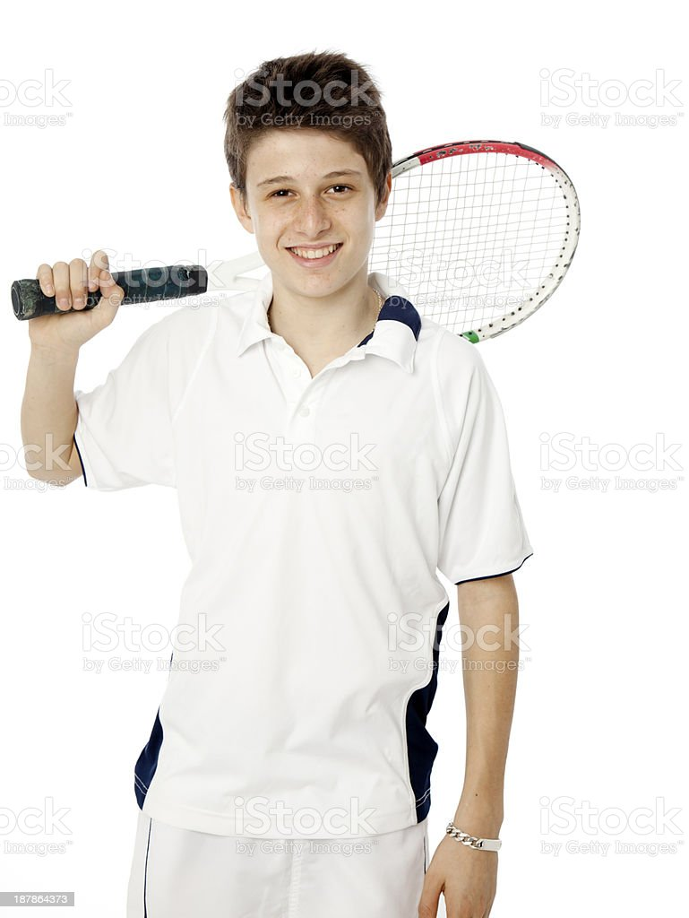 Fourteen years old tennis player​​​ foto