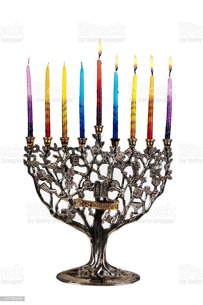 Fourth day of Chanukah. XXL royalty-free stock photo
