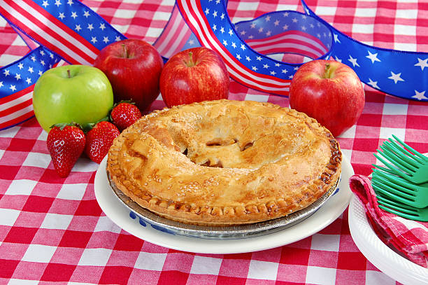 Fourth of July Apple Pie stock photo