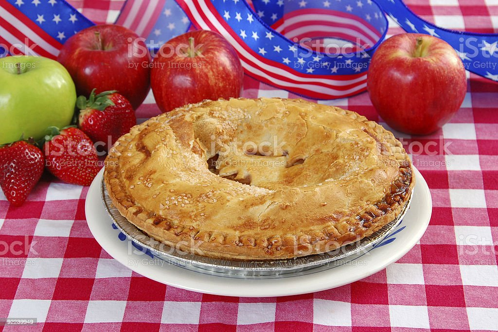 Fourth of July Apple Pie royalty-free stock photo
