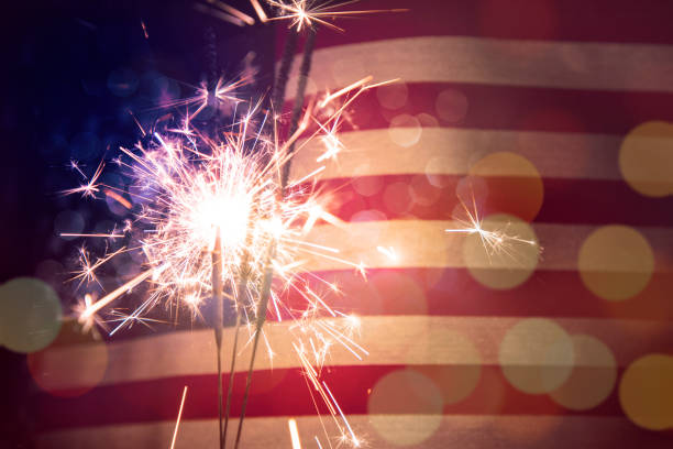 fourth of july background - independence day stock photos and pictures