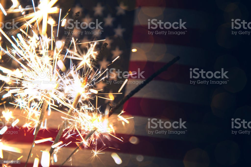 Fourth of July Background stock photo