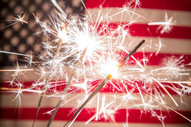 fourth of july background - independence day stock pictures, royalty-free photos & images